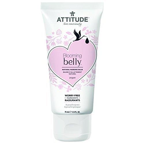 Attitude Natural Nursing Balm- Argan, Fragrance Free, 2.6 Fluid Ounce
