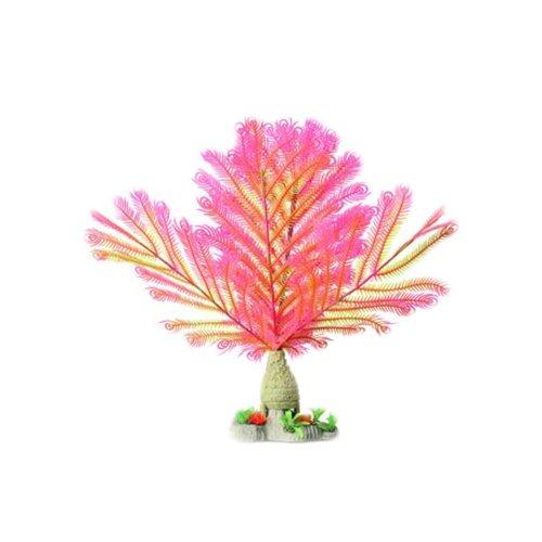 Emulational Plants Aquarium Decor Fish Tank Decoration,Pink