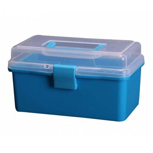 Multipurpose Portable Home Storage Box Toolkit Toolbox Medicine Box,Blue