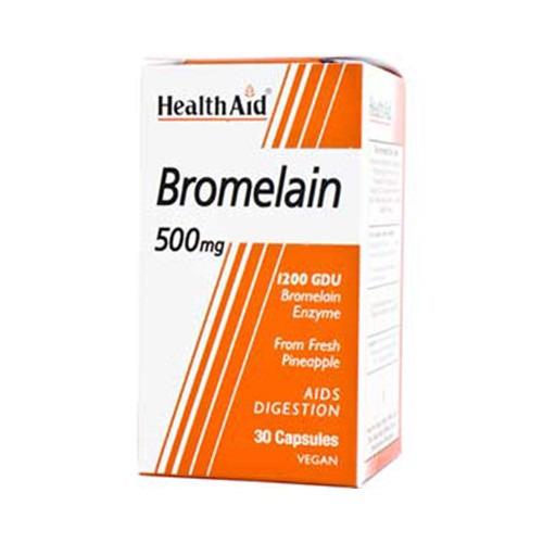 Healthaid Bromelain 500mg Vegicaps 30's