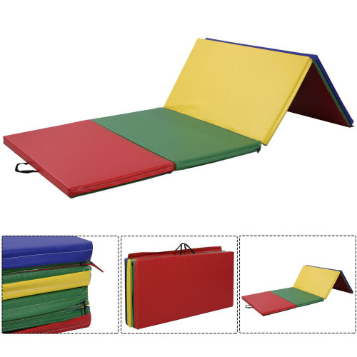 8FT Folding Gymnastics Tumble Floor Mat Colors