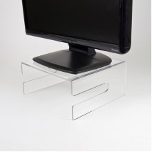 Newstar Transparent Monitor Stand (Clear Acrylic)Stunning crystal clear acrylic for a stylish work environme