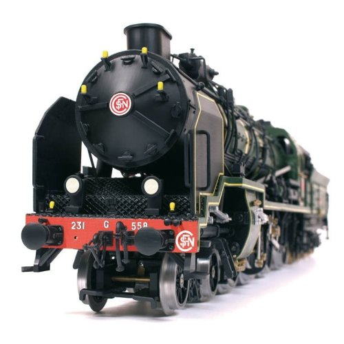 Occre Pacific 231 Locomotive Train Scale Model Wood and Metal Display Kit