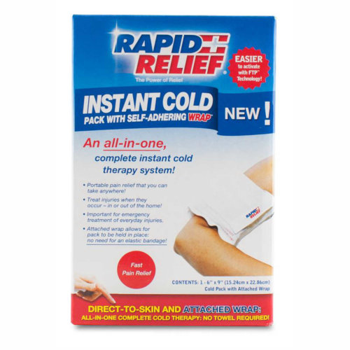 Rapid Relief Instant Cold Pack with Self-Adhering Wrap - Boxed