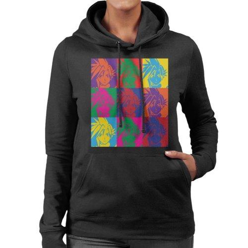 Final Fantasy Cloud Warhol Print Women's Hooded Sweatshirt