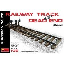 Min35568 - Miniart 1:35 - Railway Track & Dead End European Gauge