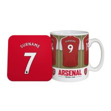 Personalised Arsenal FC Dressing Room Mug & Coaster Set