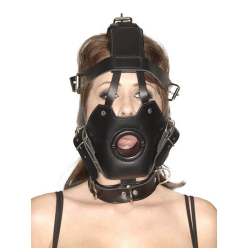 Strict Leather Premium Muzzle with Open Mouth Gag  BDSM Masks - Master Series