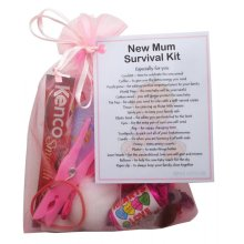New Mum Survival Kit Gift (Pink) - A sweet gift for mum-to-be / baby shower