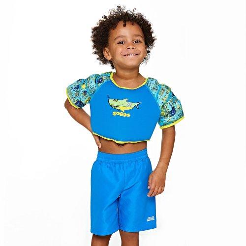 Zoggs Kids Deep Sea Water Wing Swimming Float Vest, Blue, 2-3 Years