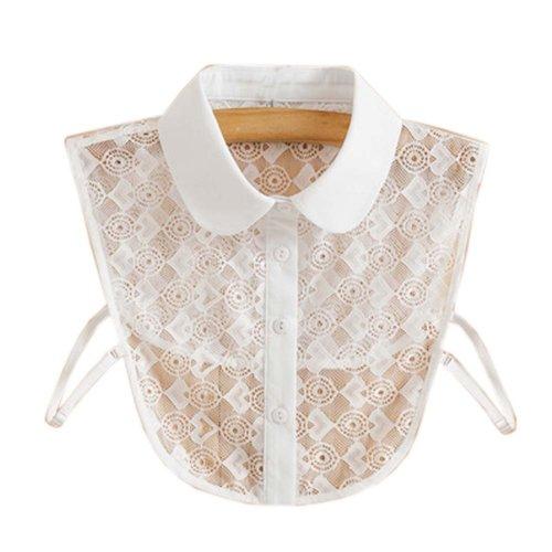Trendy Detachable Lace Collar Fake Collar All-match Fake Half Shirt for Women, #10