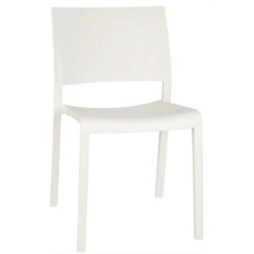 Sean White Indoor or Outdoor Stackable Chair / Pack of 4