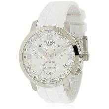 Tissot PRC 200 White Rubber Chronograph Mens Watch T0554171701700