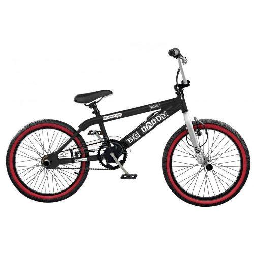"Rooster Big Daddy Kids 20"" Wheel Freestyle BMX Bike Bicycle Black Gyro RS123"