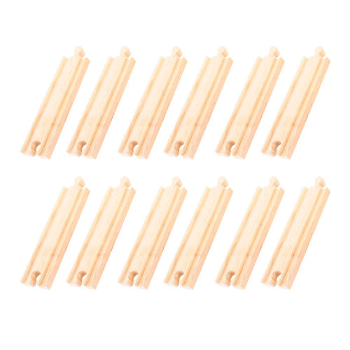 Bigjigs Rail Medium Straights (Pack of 12)