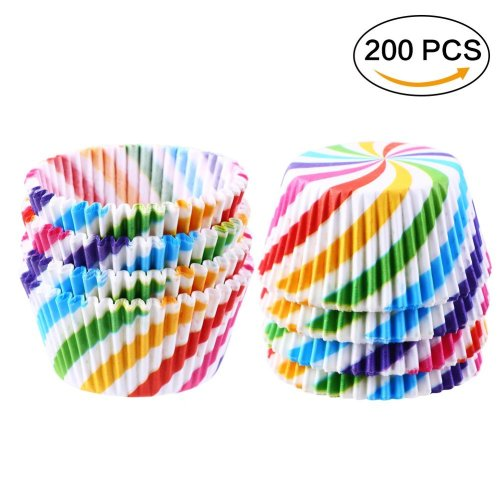 CCINEE 200 PCS Cupcake Baking Cases Muffin Cupcake Wrapper Paper Cases for Wedding,Birthday.