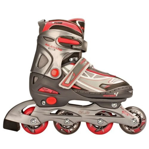 9f9b5425bf5 Nijdam Junior Inline Skates 27-30 Anthracite/Silver/Fuchsia 52SR on OnBuy