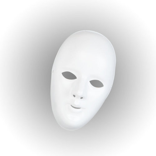 Deluxe Female Face Mask. White - Mask Fancy Dress Halloween Robot Accessory -  mask face white fancy dress female halloween deluxe robot accessory