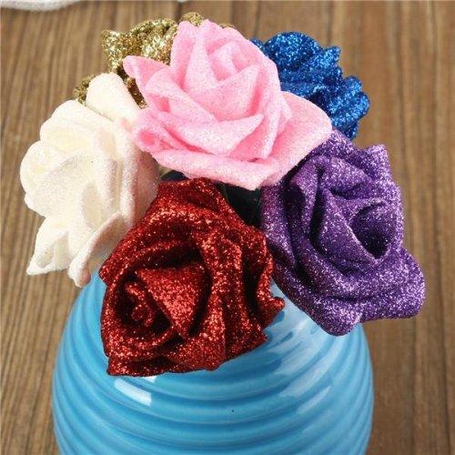 6 Colors Artificial Rose DIY Nosegay Handmade Foam Flowers Simulation Rose