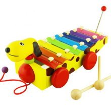 Hammer Percussion Hand Knock Children Music Toy Piano--Dog