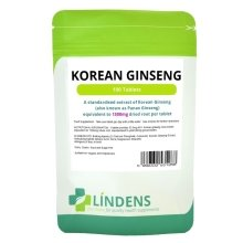 Lindens Korean Ginseng 1300mg 26mg Ginsenosides 100 Tablets Quality Supplement