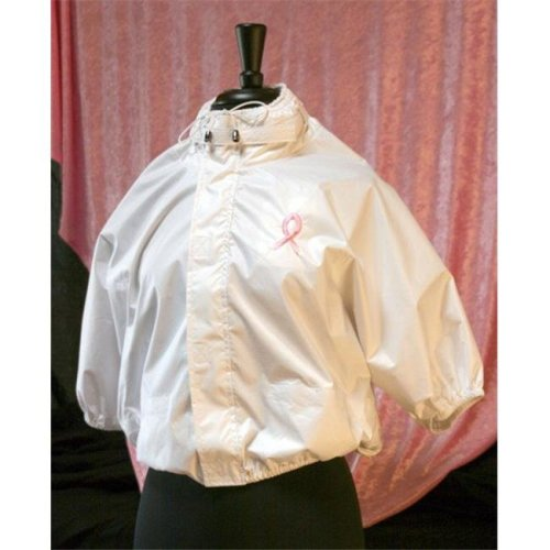 Shower Shirt Water-Resistant Garment for Surgery Patients, White - Size S-M - Size 4-12
