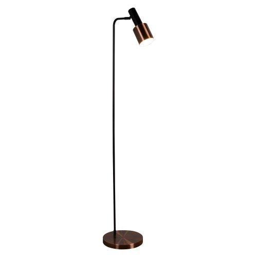 1 Light Floor Lamp Black Antique Copper