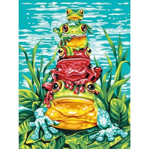 Dpw91421 - Paintsworks Learn to Paint - Frog Pile Up