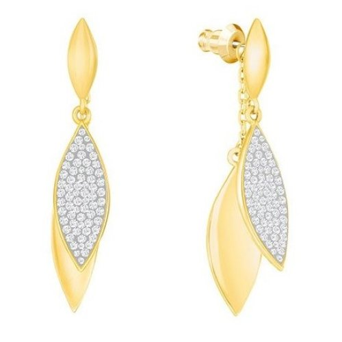 Swarovski Grape Long Pierced Earrings - White - 5264814