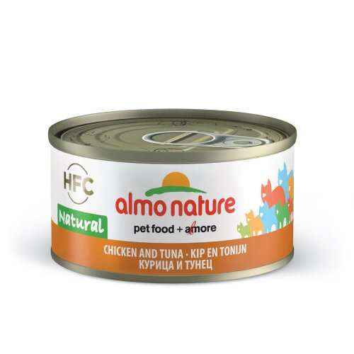 Almo Nature Hfc Natural Cat Adult Chicken & Tuna 70g (Pack of 24)