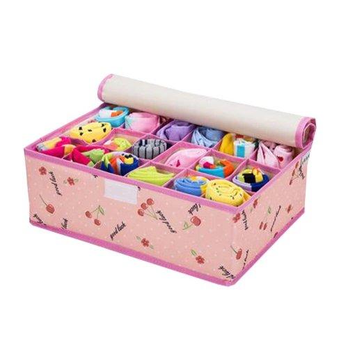 Foldable Socks/Underwear Storage Box Home Organizer 18 Grids