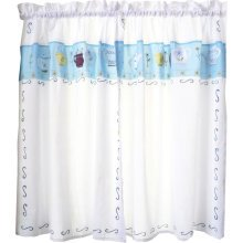 Sweet Embroidered Curtain Kitchen Curtain Coffee Screens- 02