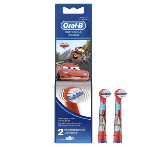Oral-B Stages Kids Electric Toothbrush Replacement Heads - Disney Cars - 2-Pack