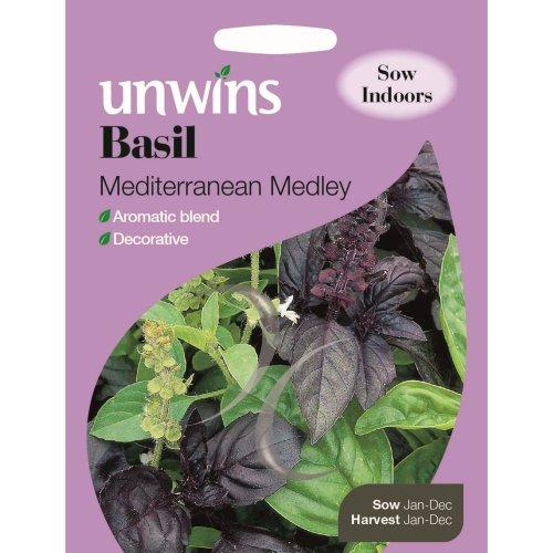 Unwins Pictorial Packet - Herb Basil Mediterranean Medley - 300 Seeds