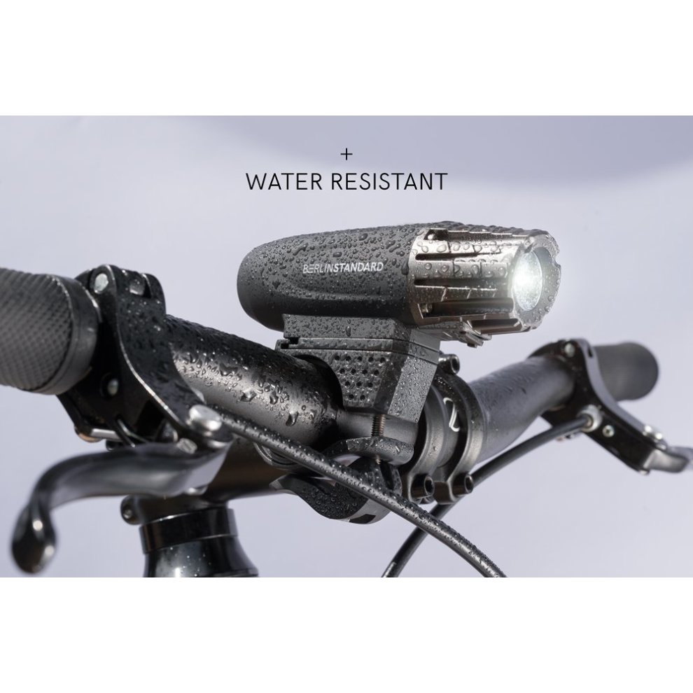 Berlin Standard USB Rechargeable LED Bike Light Set Waterproof Super Bright 300