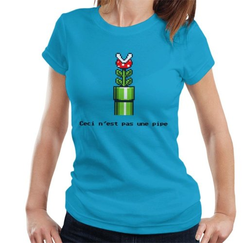 This Is Not A Pipe Super Mario Women's T-Shirt