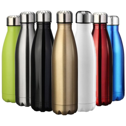 EVIICC Water & Drinks Bottle Sports Insulated Stainless Steel Vacuum Flask Double-walled for Outdoor Hiking Running Cycling Camping - 750ml