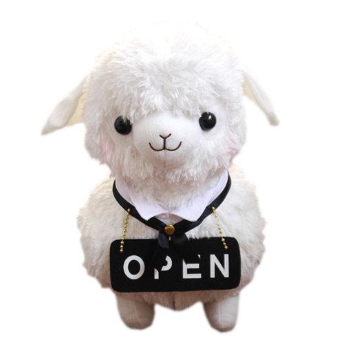"Plush Doll for Kids Lovely Lamb Plush Toy Ideas Stuffed Alpaca (H)16.5"""