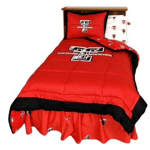 College Covers TTUCMQU Texas Tech Reversible Comforter Set- Queen
