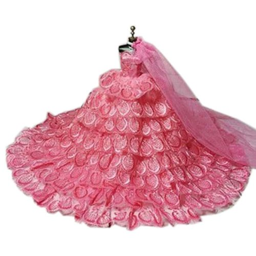 High-end Handmade Wedding Costume Luxurious Party Gown Dresses Princess Clothes for Dolls, I