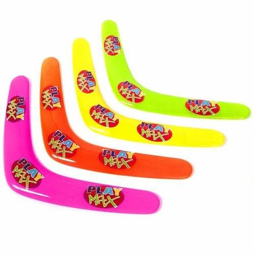 Set of 4 Plastic Boomerang Toys - Fun Childrens Outdoor Summer Beach Toys