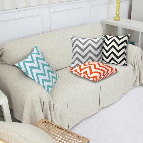 Vintage Zig Zag Printed Cushion Cover Home Decor Throw Pillow Case