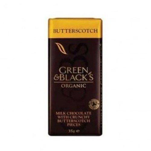 Green & Blacks - Butterscotch Chocolate Bar 35g (30 pack)
