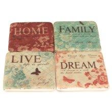 Ceramic Coasters Words