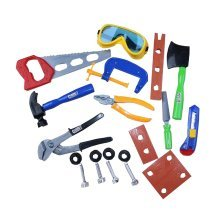 A Set of Plastic Boy Early Learning Repair Tool Toy