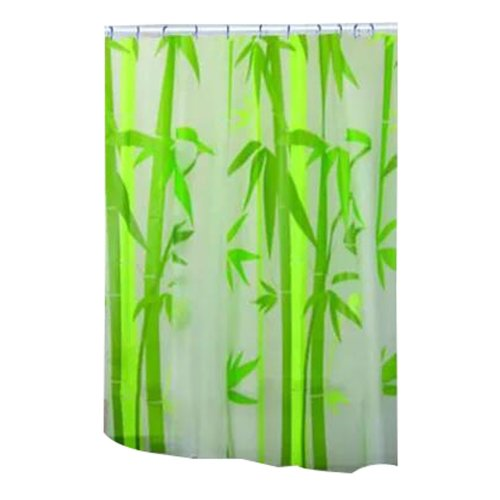 Bathroom Shower Curtains Thick Waterproof Curtains Window Treatments(Bamboo)
