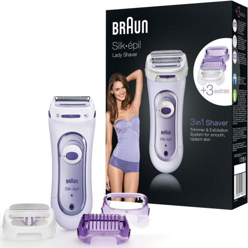Braun Silk-epil Women Cordless Rechargeable Foil Shaver Legs Body Trimmer LS5560