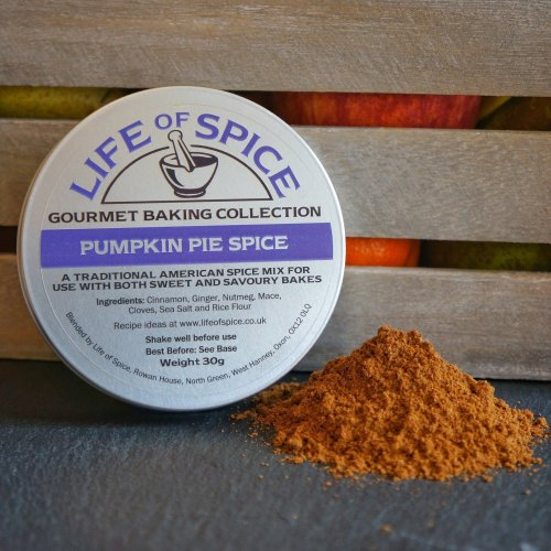 Pumpkin Pie Spice - Life of Spice Gourmet Baking Spice (30g) - Cinnamon, Ginger, Nutmeg, Mace, Cloves and Sea Salt