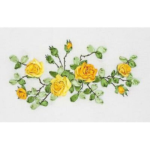 Panna Ribbon Embroidery Kit - C-1089 Yellow Roses