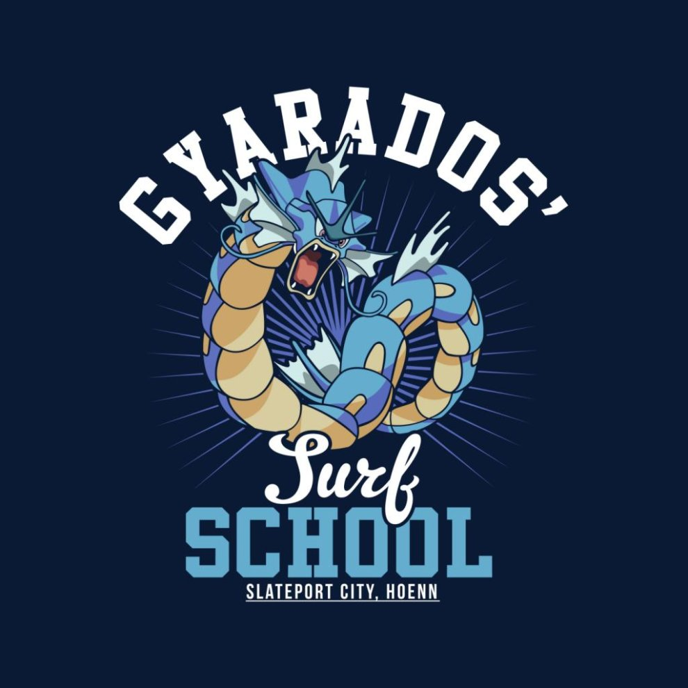 128122915 Gyarados Surf School Pokemon Men's T-Shirt on OnBuy